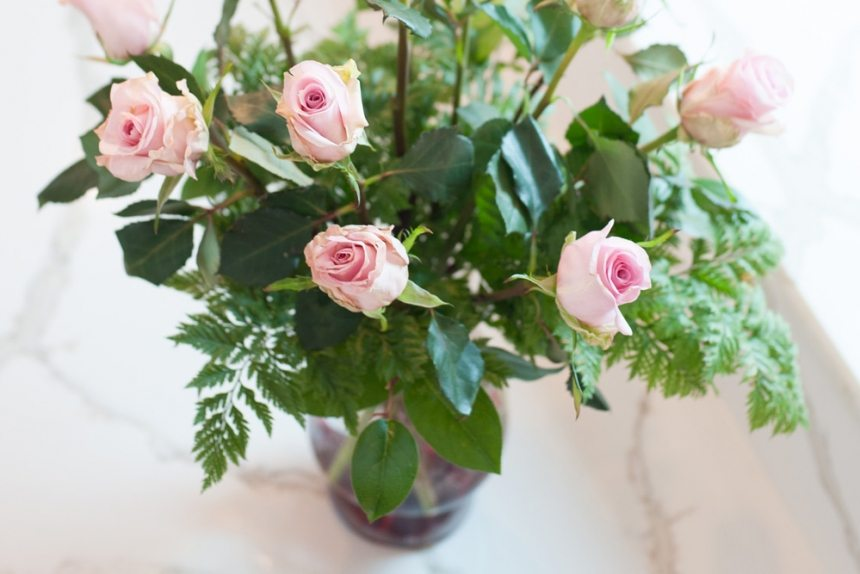 Long Stem Rose Arrangement Valentine's Day