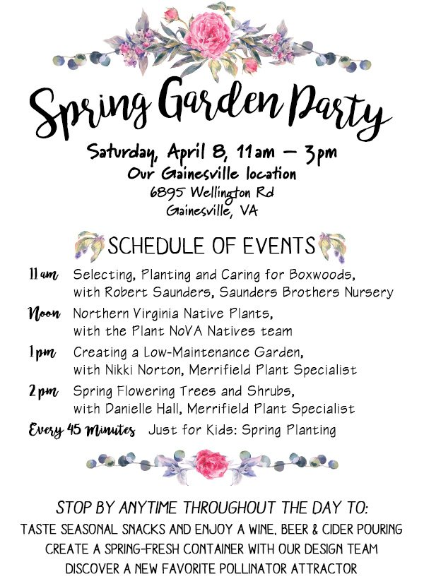 Welcome The Growing Season At Our Spring Garden Party