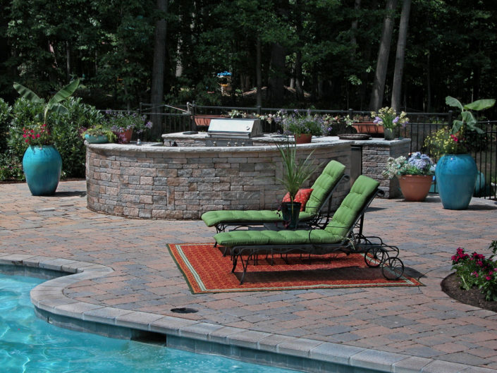 Pool Deck with Outdoor Kitchen
