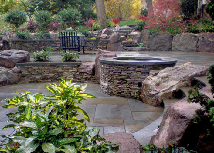 Stone Wall on Patio