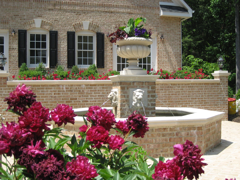 Formal Brick Fountain