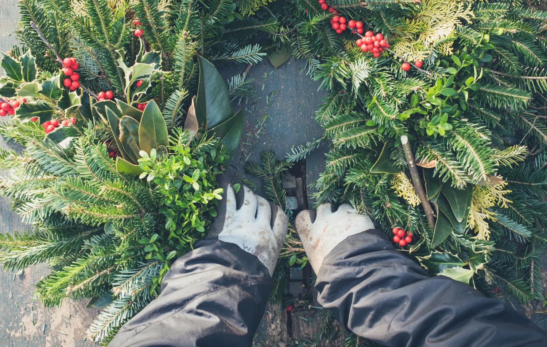 Fresh Wreath, Holiday Decor