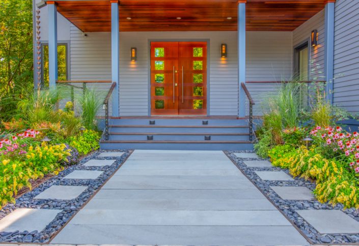 Slate Path with Perennial Plantings