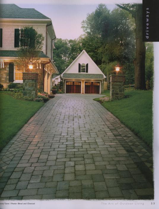 Stone Patterned Driveway