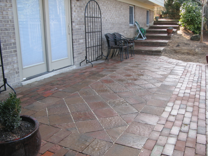 Stone Patterned Patio