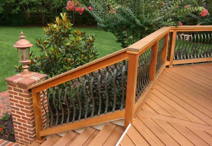 Curved Deck Railing
