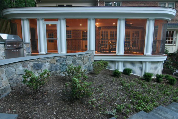 White Screened-in Porch