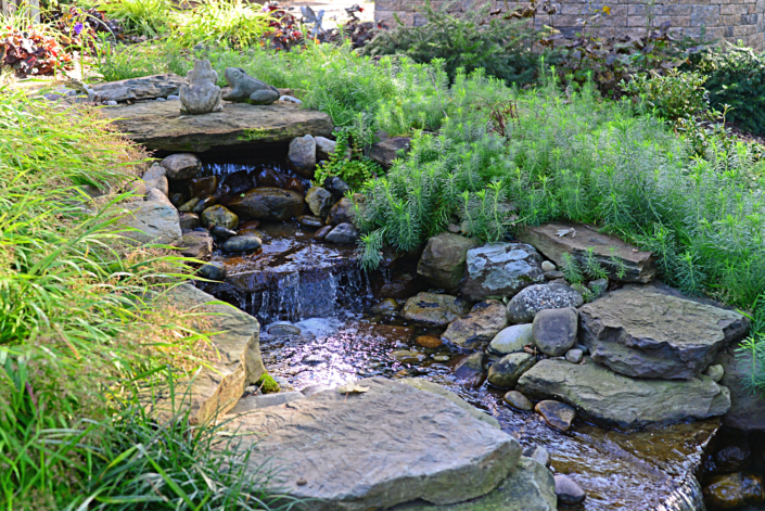 Natural Stone Pond and Waterfall
