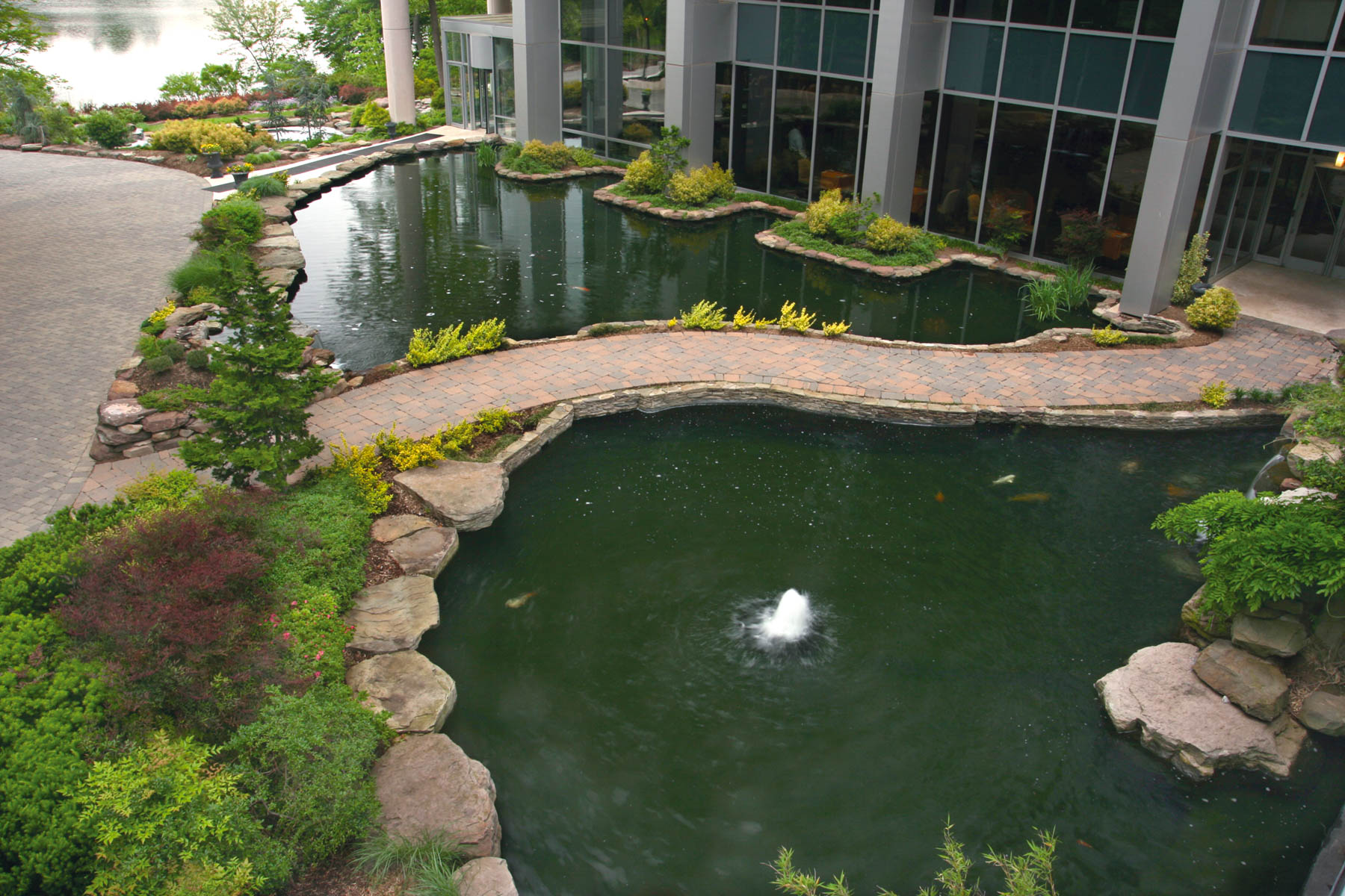 Large Pond with Walking Path
