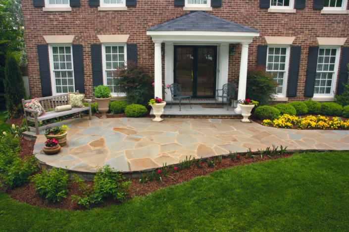 Brick with Front Patio