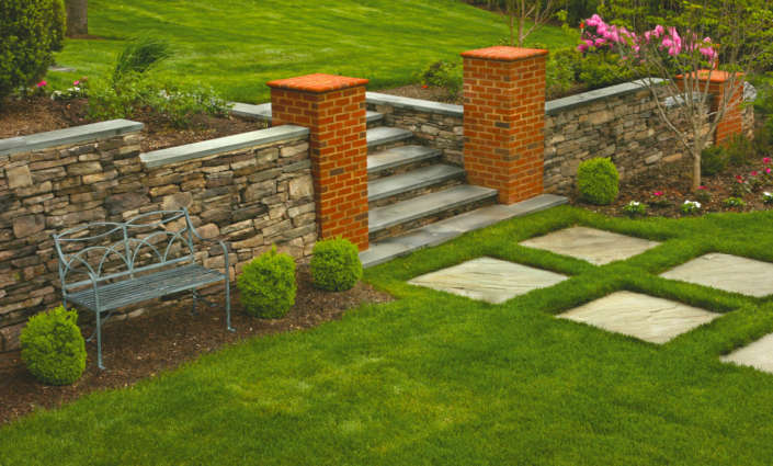 Stone, Brick and Slate Wall