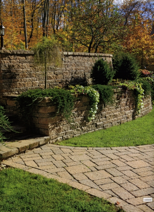 Wall with Planters