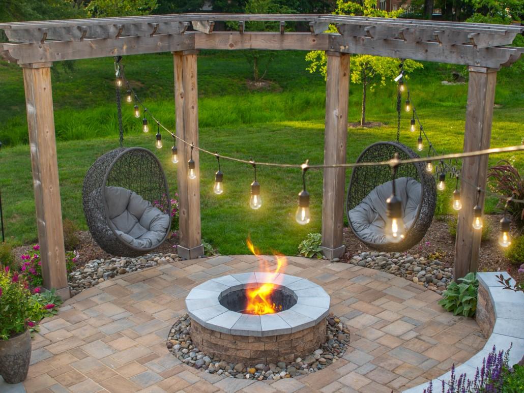 Arbor with Firepit, Landscape Design