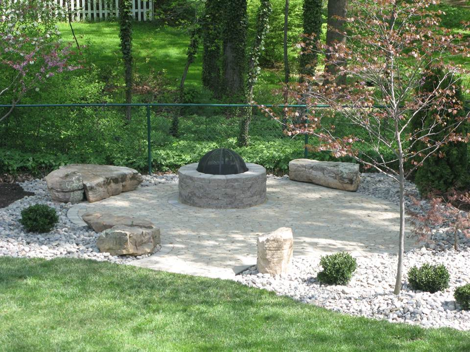 Rock Garden with Firepit