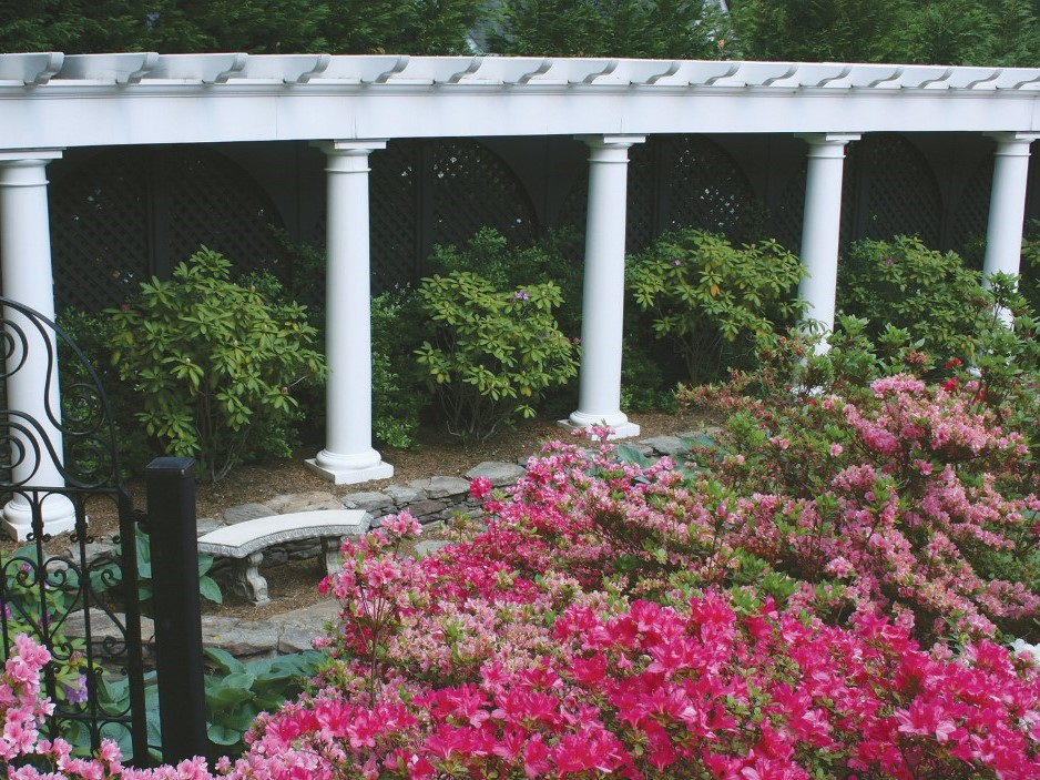 Columned Arbor with Azaleas, Landscape Design