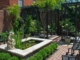 Pergola and Pond on Brick Patio