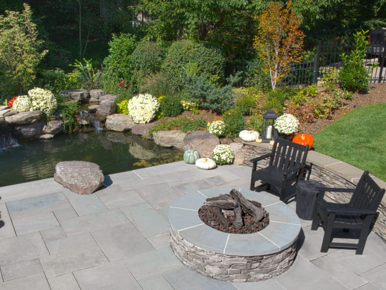 Pond with Firepit